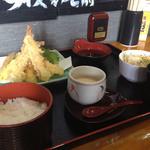 ふくふく亭 - ジャンボ天盛り定食893円(第四回投稿分④)