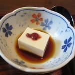 由ら花 - この日の小鉢は小さな冷奴、暑い夏には最適の小鉢です。