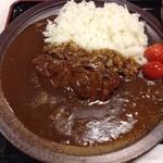 おさふねサービスエリア - 見事な備前焼のお皿で備前カレー( ´ ▽ ` )ノ
