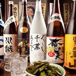 筑前屋 - 【自慢の焼酎】 日本各地の名産が勢ぞろい。