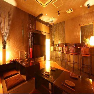 ◆離れ個室・茶室の扉◆~青山・IDEE監修~大人のための空間