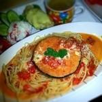 サン・やすらぎ おひさまの部 - 気まぐれランチプレート  米ナスのトマトクリームソース