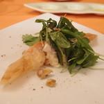 フレスコ - Jul, 2013 カナダ産オマール海老のグリルのブリック包み マスカルポーネのソースとくるみのサラダ