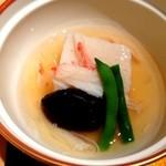 個室会席 北大路 - 里芋真薯と椎茸、隠元の炊き合わせ
