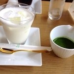 翆 - ミルクとお抹茶 本当に抹茶オレだ。
