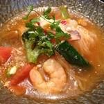 20364670 - 夏野菜の海鮮トマト冷麺