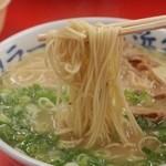 元祖長浜家 - ラーメン 麺