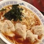 中国料理 小花 - 久しぶりの水餃子麺。ボリュームある水餃子に太縮れ麺。贅沢すぎます!