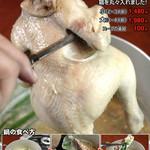 フジヤマドラゴン - 料理写真:丸の鶏がドカッと一羽
