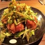Sun Bee - フライド棒々鶏☆ 鶏の唐揚げにきゅうりと棒々鶏ソース!