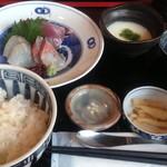 さつまや - ランチの鮮魚刺身定食三種盛(980円)