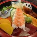 三河屋鮨 - とある日のランチちらしです。具たくさんで嬉しいちらし♪
