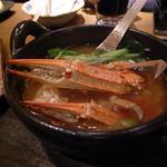 俺の割烹 博多 中洲 - ワタリガニ鍋