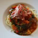 40種類のワインとオーガニックフレンチ Sou-Sou - 料理写真:1-1)夏野菜たっぷりラタトゥイユの冷製スパゲッティ