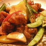 中華バール金柑 - 黒酢の酢豚