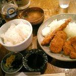 かつれつ亭 - ミックスフライ定食