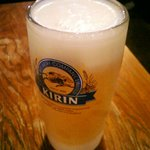 かつれつ亭 - 冷た~いビール
