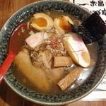 in EZO - 特にぼ中華そば女子盛_650円、味付玉子_100円