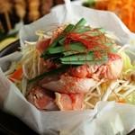 鶏と野菜の深い味わい『たっぷり旬野菜と若鶏の熱々鉄板焼き』