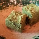 鱒の家 - デザート(わらびもち)