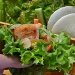フジヤマドラゴン - 料理写真:包んで食べるが人気のサムギョプサル♪
