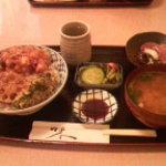 魚 千ふじ - 木柱かき揚丼