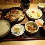 庵ぐら - 鶏ちゃん焼定食\830