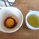 ココス - 生卵で一膳。久しぶり食す。旨い。