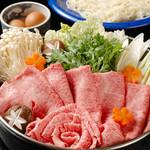 割烹 天ぷら 三太郎 - 【黒毛和牛すきやき】 ¥6,000