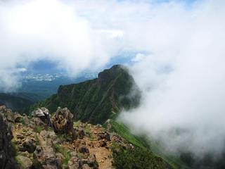 赤岳天望荘 - 赤岳頂上からの眺め(阿弥陀岳側)