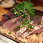 まずい魚 青柳 - カツオのたたきとサワラ