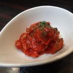 ヤキソバ伊達 - 冷製牛タンのトマトソース(焼そばで一杯セット)