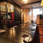 炭火串焼 名門 - 店内は落ち着いた雰囲気の和の空間☆宴会も大歓迎です♪