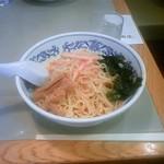 古寿茂 - 本日のサービス麺の冷し坦々麺(550円)です