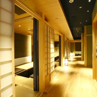【完全個室】自慢の和食を一層美味しくする空間