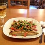 ハナハウス - 「ガレット」この日はジャガイモとベーコンのカレーバターソースです