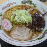佐久平パーキングエリア(上り)軽食コーナー - 醤油ラーメン(500円)