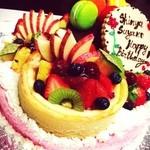 ボナペティ - お誕生日にスペシャルケーキを注文しました♡ リクエストも快く受けてくださり、大満足でした(((o(*゚▽゚*)o)))