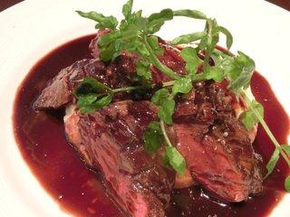 ビストロ ドゥーブル - 牛バベットステーキ赤ワインソース 1700円