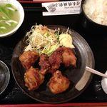 日本橋焼餃子 - 唐揚げ定食