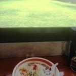 マグマ食堂 - 店内からの風景