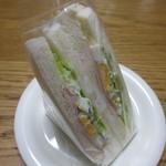 まるじゅう - 玉子、ハム、レタスサンド 180円