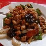 桃園 - 料理写真:鶏の黒胡椒炒め単品。