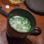 炭屋 串兵衛 - さっぱり鶏スープ 180円