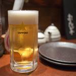 炭屋 串兵衛 - 生ビール(小) 無料券で