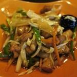 桃花 - 鶏肉、野菜炒め