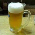 まぐろや - 生ビール(500円)
