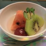 20432107 - デザートの葡萄、キウイ、スイカ