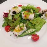 ル ピニョン - 前菜 活け鱧のブランシール、サラダ仕立て