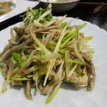 源烹輪 - 豚胃袋の葱生姜塩和え